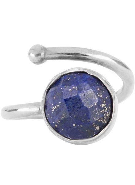 Marissa Eykenloof Silver ring Lapis Lazuli