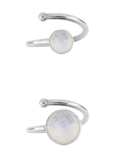 Marissa Eykenloof Moeder & Dochter set zilveren ringen Regenboog maansteen