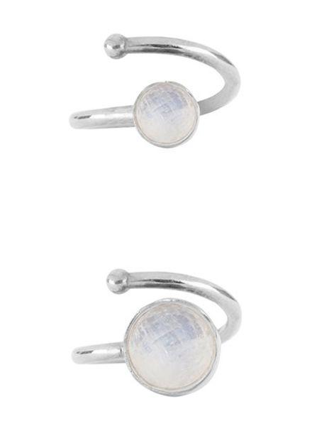 Marissa Eykenloof Set zilveren ringen Regenboog maansteen