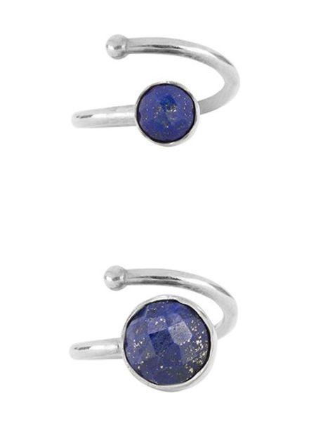 Marissa Eykenloof Set zilveren ringen Lapis Lazuli