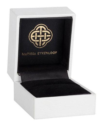 Marissa Eykenloof Mother & Daughter set silver ring Rose Quartz