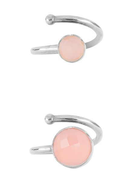 Marissa Eykenloof Set silver ring Rose Quartz