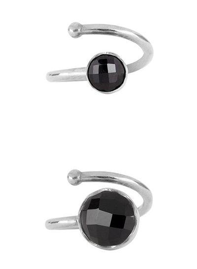 Marissa Eykenloof Moeder & Dochter set zilveren ringen zwarte Onyx