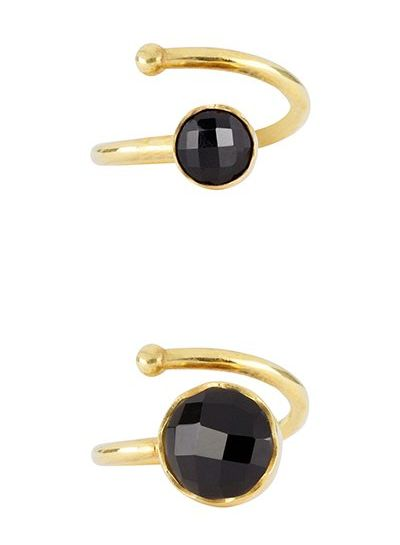 Marissa Eykenloof Mother & Daughter set gold ring Black Onyx