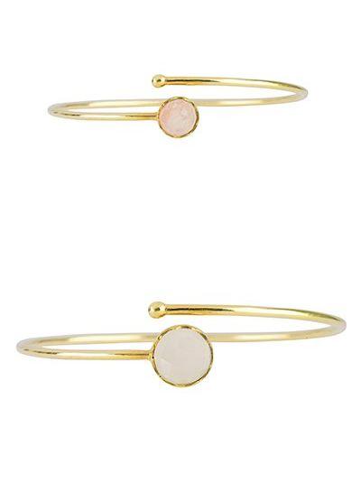 Marissa Eykenloof Mother & Daughter set gold bracelet Rainbow Moonstone