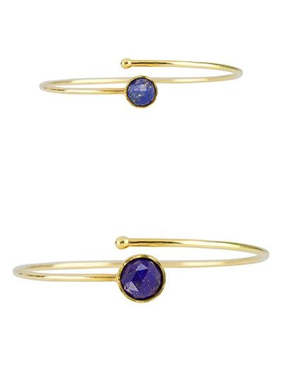 Marissa Eykenloof Mother & Daughter set gold bracelet Lapis Lazuli