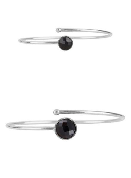 Marissa Eykenloof Mother & Daughter set silver bracelet Black Onyx