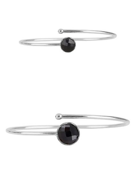 Marissa Eykenloof Set zilveren armbanden met zwarte Onyx