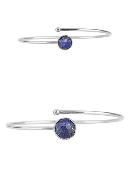 Marissa Eykenloof Silver bracelet set Lapis Lazuli