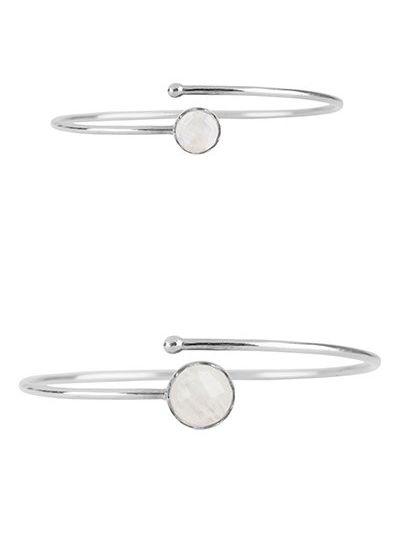 Marissa Eykenloof Moeder & Dochter set zilveren armbanden met Regenboog maansteen