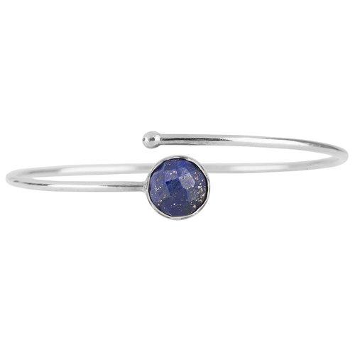 Marissa Eykenloof Zilveren armband met Lapis lazuli