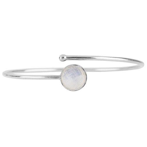 Marissa Eykenloof Zilveren armband met Regenboog Maansteen