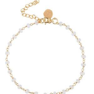 Marissa Eykenloof Armband goud met maansteen kralen