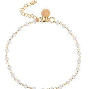 Marissa Eykenloof Beaded gold bracelet moonstone
