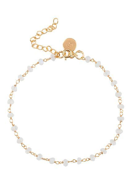Marissa Eykenloof Beaded gold bracelet moonstone