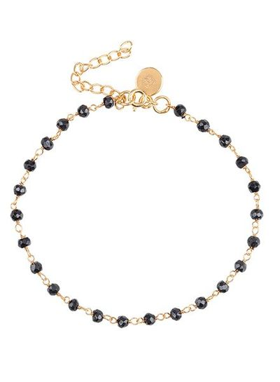 Marissa Eykenloof Beaded gold bracelet black onyx