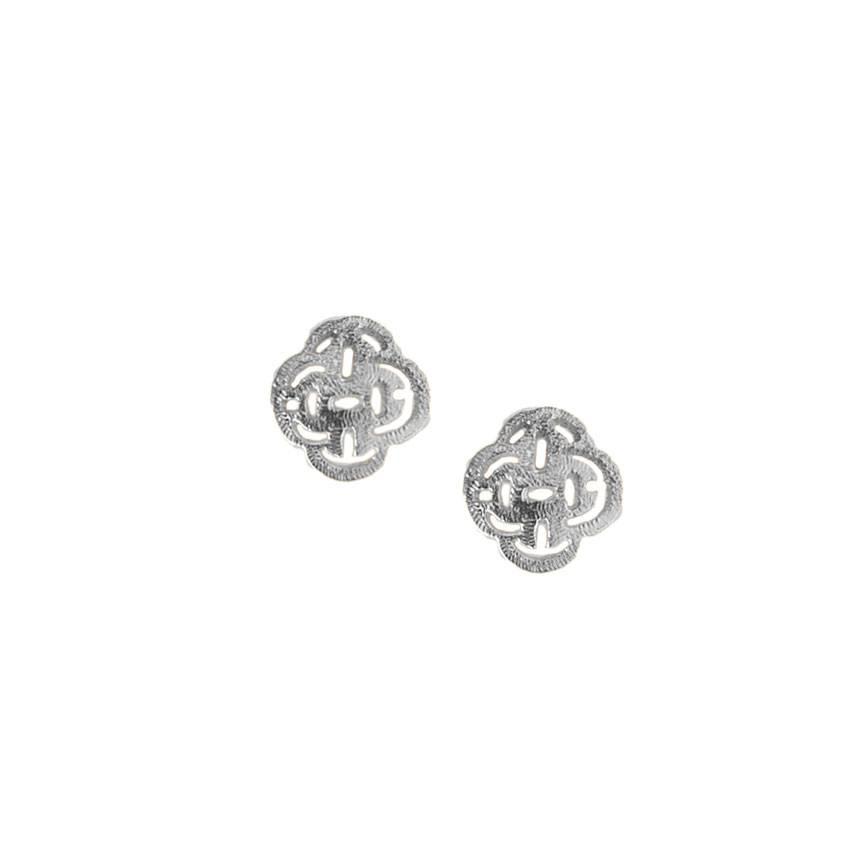 Marissa Eykenloof Logo Stud Earring Silver