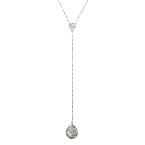 Marissa Eykenloof Silver necklace with Labradorite