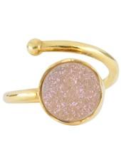 Marissa Eykenloof Gouden ring met druzy