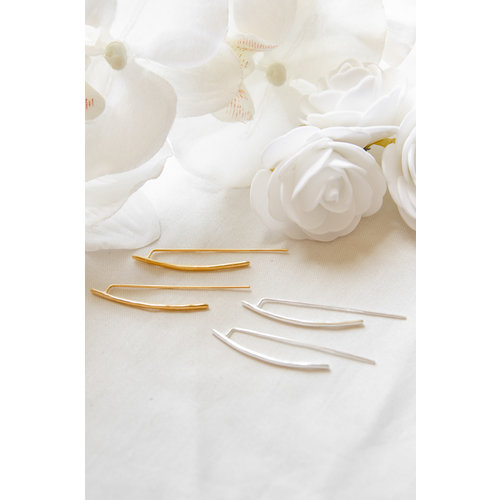 Marissa Eykenloof Adoria geometric earring silver