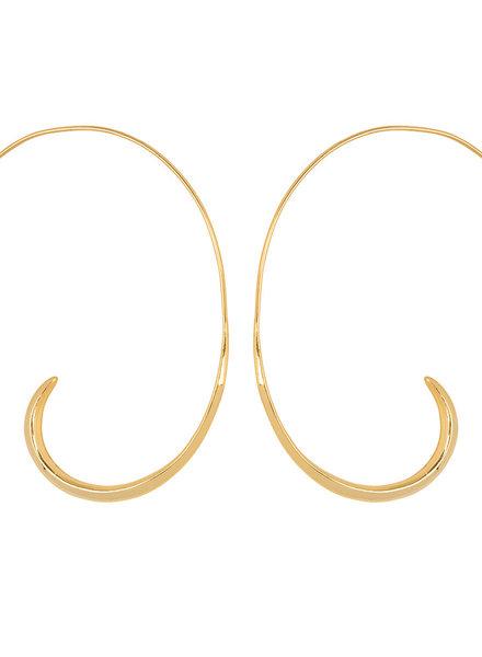Marissa Eykenloof Coco gold earring open hoop