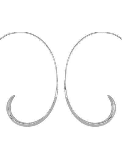 Marissa Eykenloof Coco silver earring open hoop