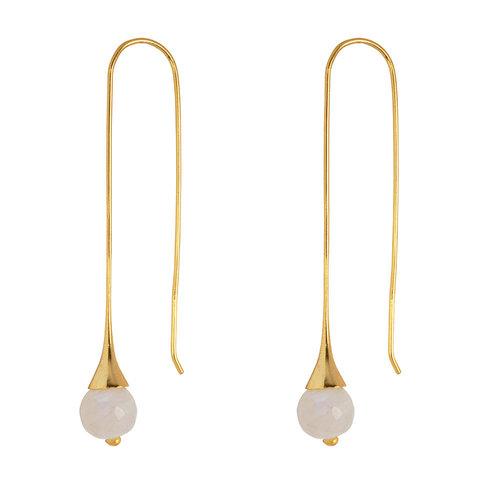 Marissa Eykenloof Georgette Gold earring with Moonstone