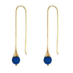 Marissa Eykenloof Gouden oorbel met Blauwe Aventurijn