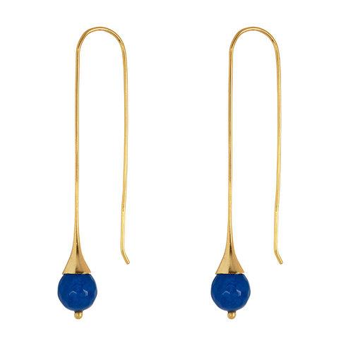 Marissa Eykenloof Gold earring with Blue Aventurine