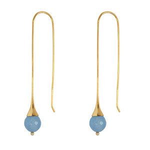 Marissa Eykenloof Gold earring with Blue chalcedony