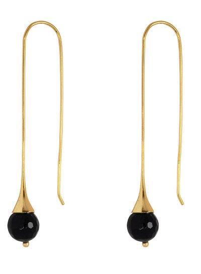Marissa Eykenloof Georgette Gold  earring with Black Onyx