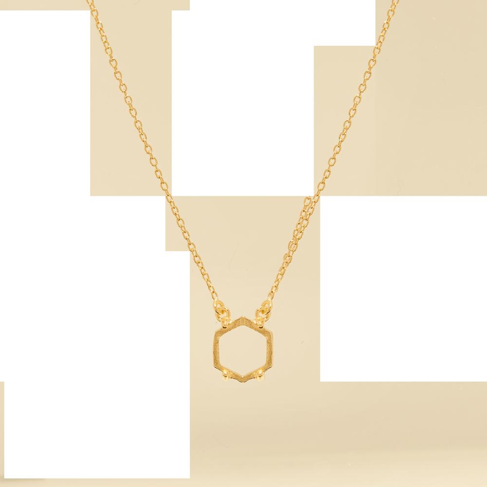 Marissa Eykenloof Tiara necklace hexagon