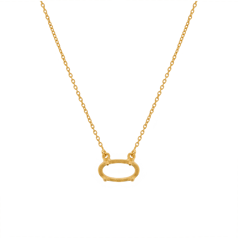 Marissa Eykenloof Amber Necklace oval gold