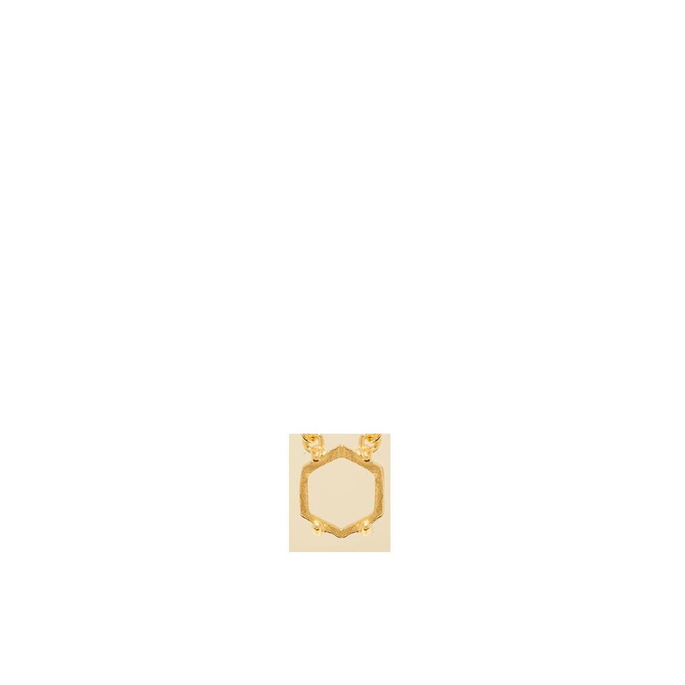 Marissa Eykenloof Tiara necklace hexagon gold