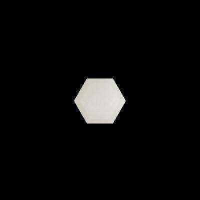 Hexagon White agate