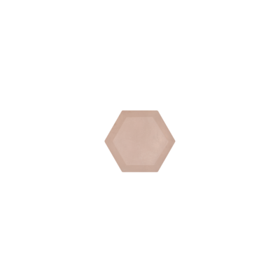 Hexagon Rose quartz