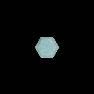 Hexagon Milky Aquamarine