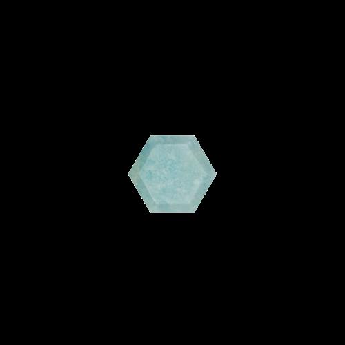 Marissa Eykenloof Hexagon Milky Aquamarine