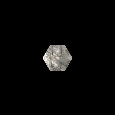 Hexagon Tourmalinated quartz