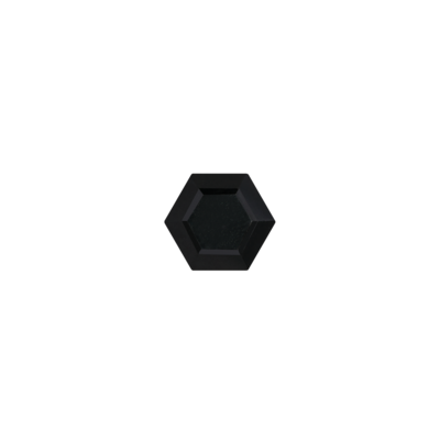 Hexagon black onyx