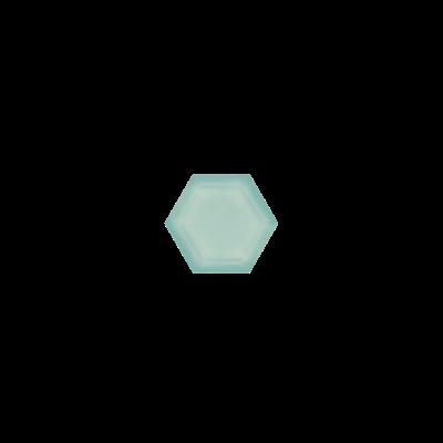 Hexagon Aqua Chalcedony