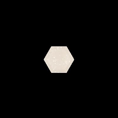 Hexagon White Druzy