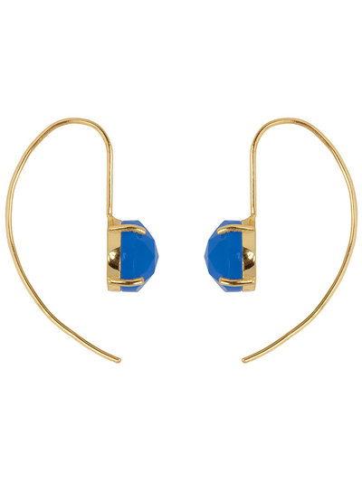 Marissa Eykenloof Sara Gold earring with Blue chalcedony