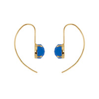 Gold earring with Blue Aventurine