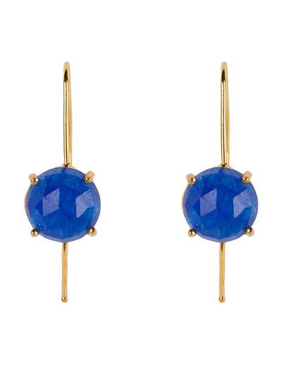 Marissa Eykenloof Sara Gold earring with Blue Aventurine