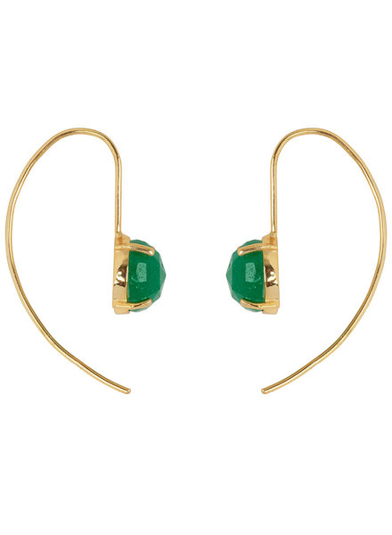 Marissa Eykenloof Gold earring with Green Aventurine
