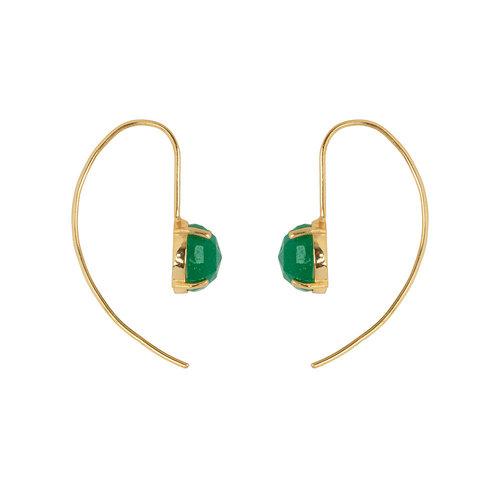 Marissa Eykenloof Gold earring with Green Aventurine