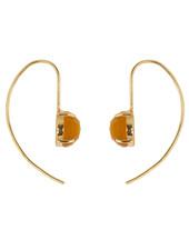 Marissa Eykenloof Gold earring with Yellow chalcedony