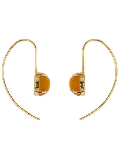 Marissa Eykenloof Sara Gold earring with Yellow chalcedony
