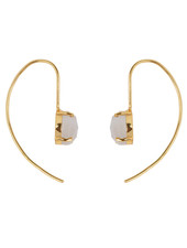 Marissa Eykenloof Gold earring with Moonstone